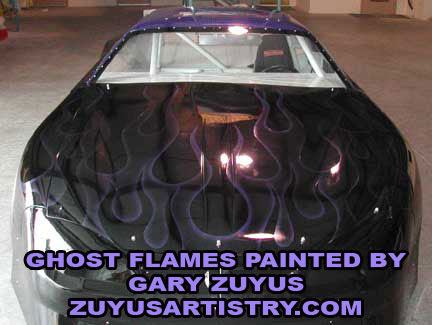 SUper late model ghost flames
