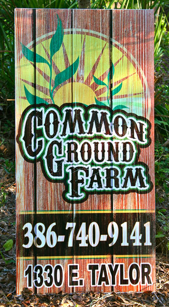 common ground farm sign