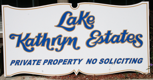 lake kathryn sign