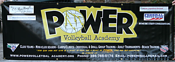power volley ball banner