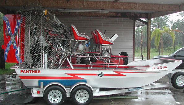 airboat with graphics