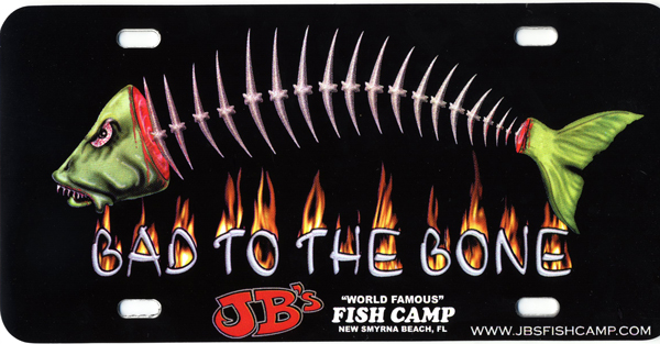 jb's fish camp license plate